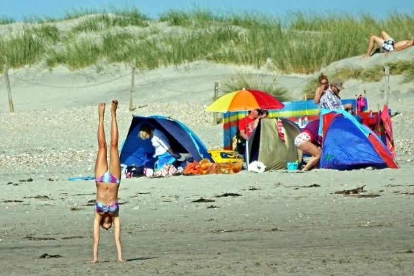 Acampar en la playa
