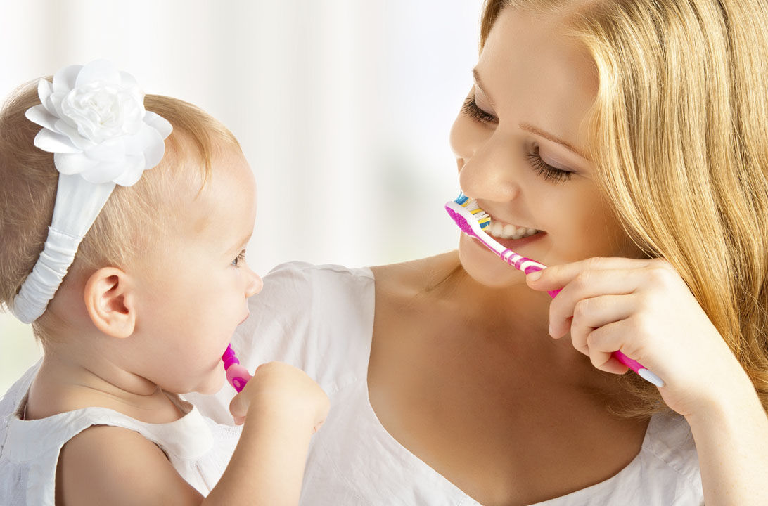 Mala salud dental madre hijos hd