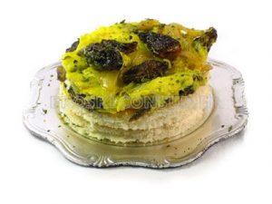 Tortilla de setas colmenillas con cebolla