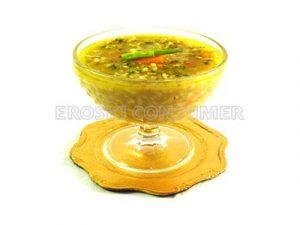 Sopa de copos de avena y verduras