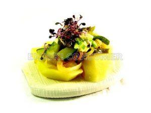 Salteado de verduras con patatas y salsa alioli