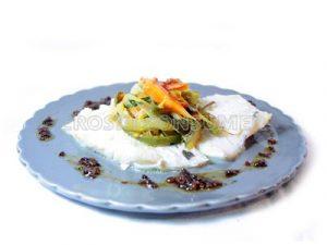 Bacalao fresco a la plancha con horneado de verduras