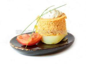 Pastel de pescado con patata