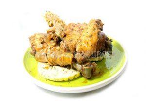 Pollo a la barbacoa con tortitas de maíz