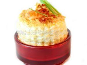 Pastel salado de salmón fresco