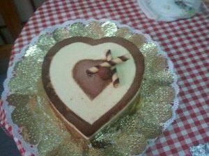 Corazón de tres chocolates