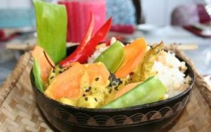 Ensalada de fideos de arroz