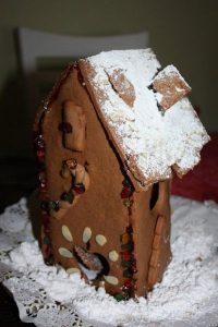 Casita navideña de galletas