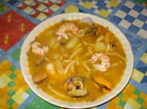 Sopa marinera (copiada de http://www.pescaderiascorunesas.es/concurso/ficha/?id=529)