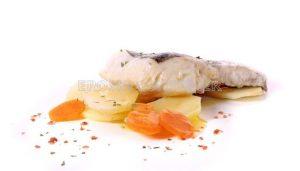 Merluza con patatas con Thermomix