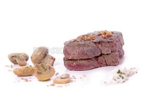 Solomillo de ternera con salsa roquefort y champiñones con Thermomix
