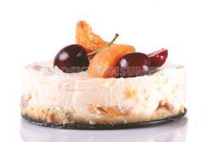 Tarta fría de albaricoques