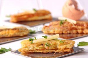 Penques de bleda farcides de pernil york i formatge crema
