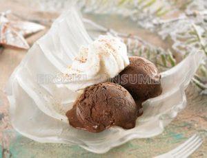 Núvols casolans al forn amb gelat de xocolata