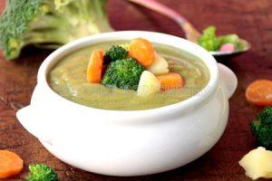 Brokoli- eta patata-zopa