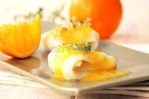 Linguado fileteado con salsa de laranxa