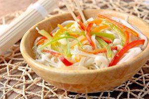 Noodles amb verdures