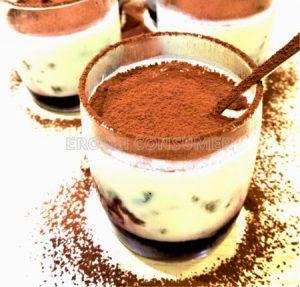 Crumble de café con crema mascarpone e cacao