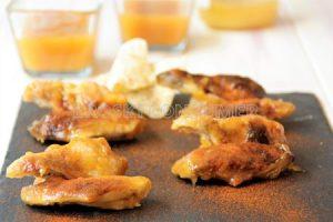 Muslitos de pollastre amb salsa barbacoa casolana de mel i mostassa