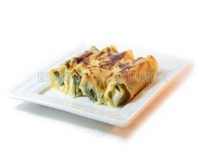 Canelones de calabacín y tofu