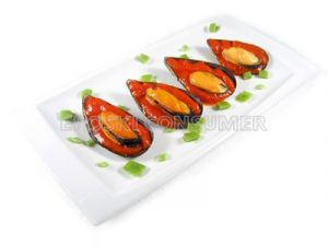 Mejillones tigres con tomate picante