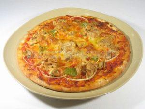 Pizza de cebolla y atún