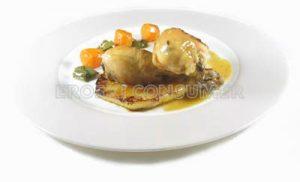 Muslos de pollo con piña natural