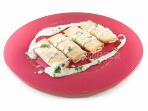 Crepes rellenos de queso de Cabrales