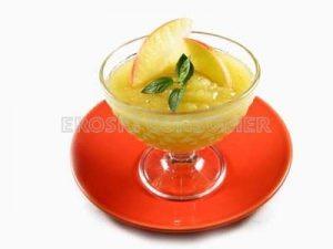 Crema de manzana con menta