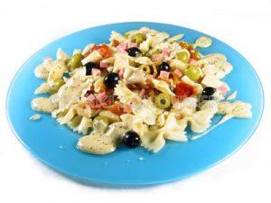 Ensalada templada de lacitos con salsa de yogur