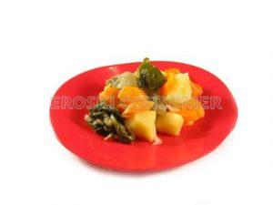 Acelgas rehogadas con zanahoria y patata