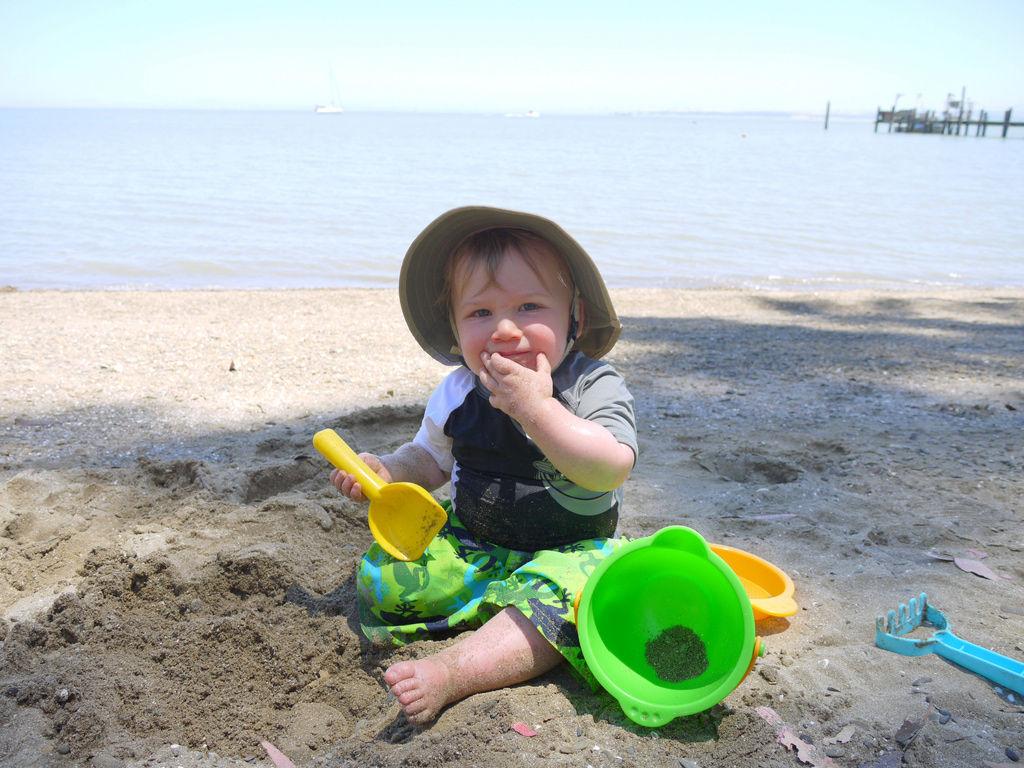 Img bebe playa
