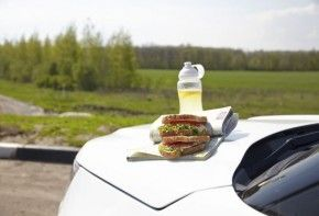 Img comida segura viaje coche