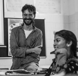 Daniel Fontes Casado, voluntario da Fundación Vicente Ferrer