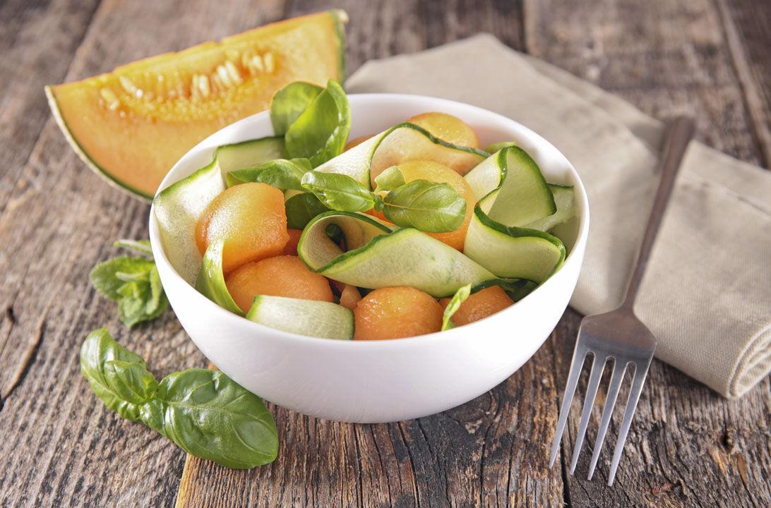 Img ensalada melon pepino hd