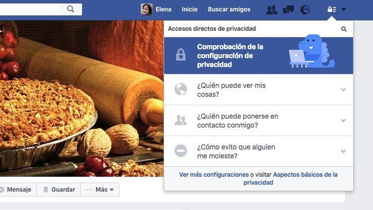 Img facebook accesos directos privacidad