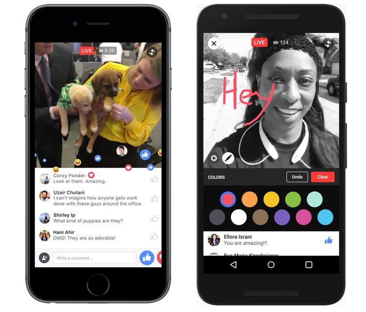 Img facebook live app movil