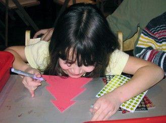 Img manualidad arbol navidad ninos art