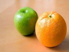 Img manzana naranja