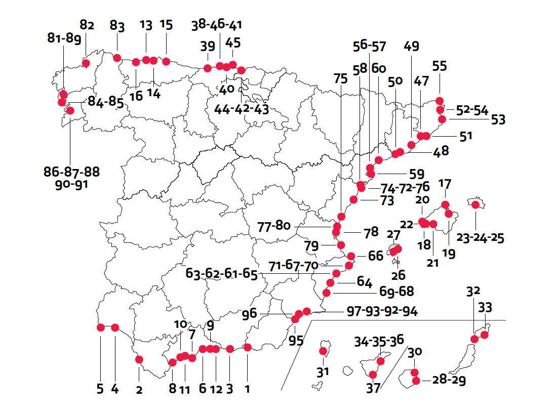 Img mapa playas perros espana hd