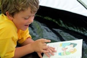Img ninos leer animales cuentos perros art