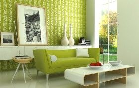 Img pared verde salon art