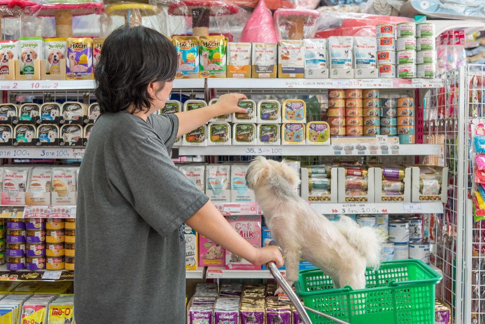 Img perros comida supermercado