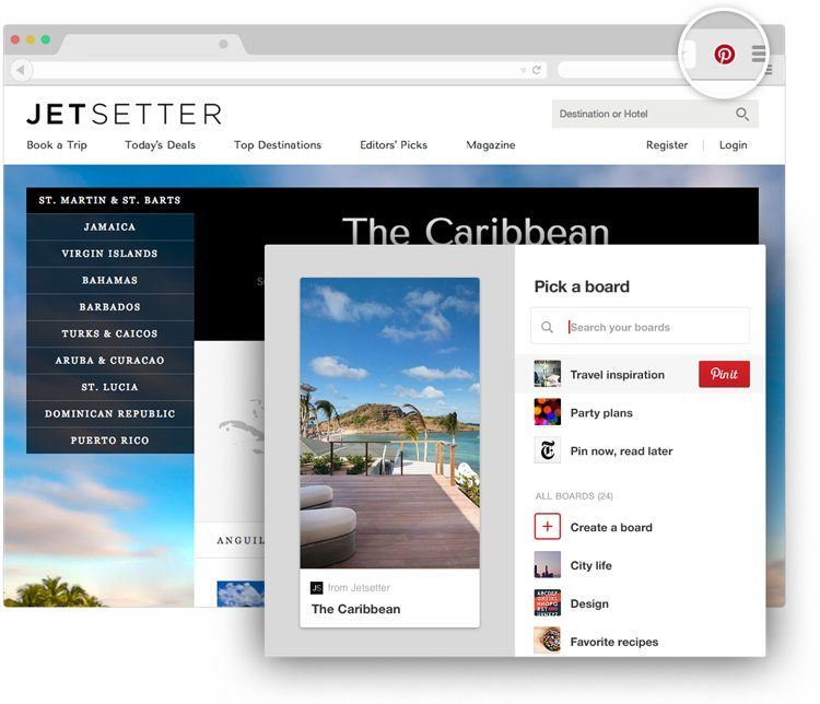 Img pinterest boton navegador