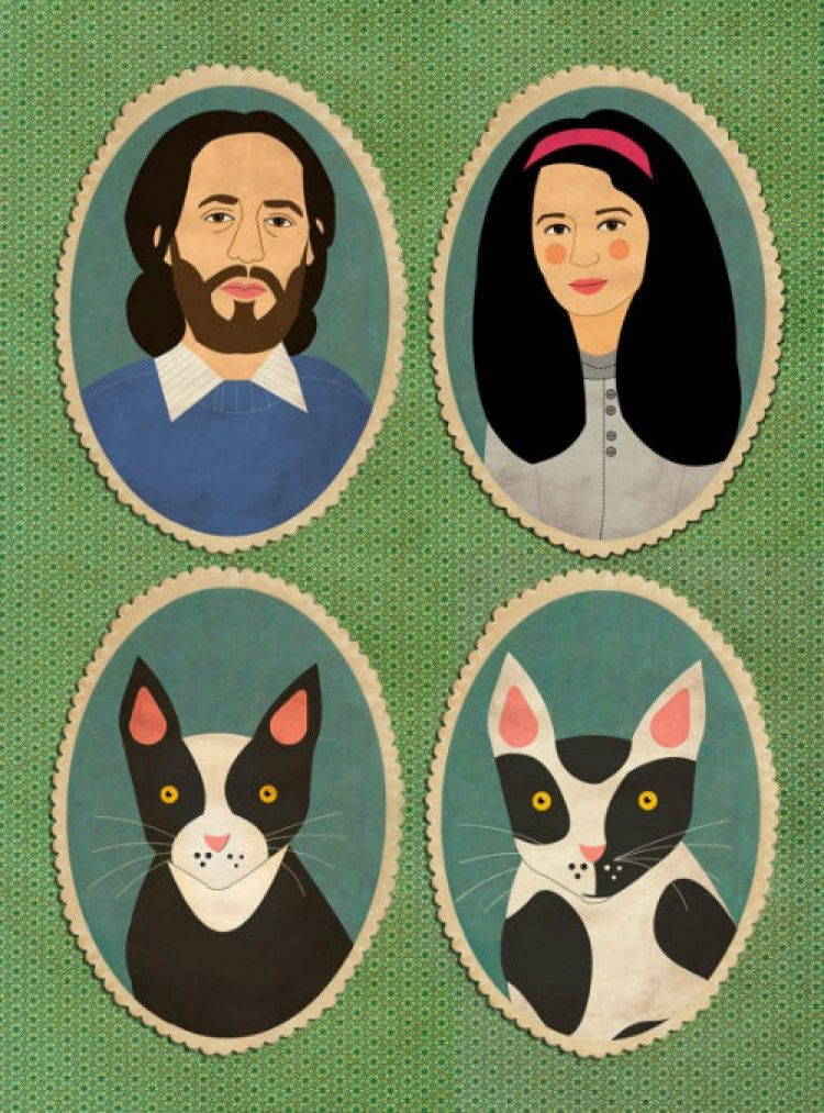 Img retratos familia gatos art