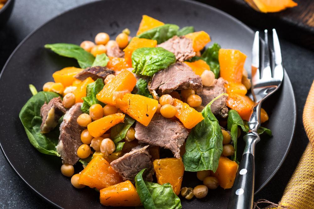 Img salteado verduras carne hd