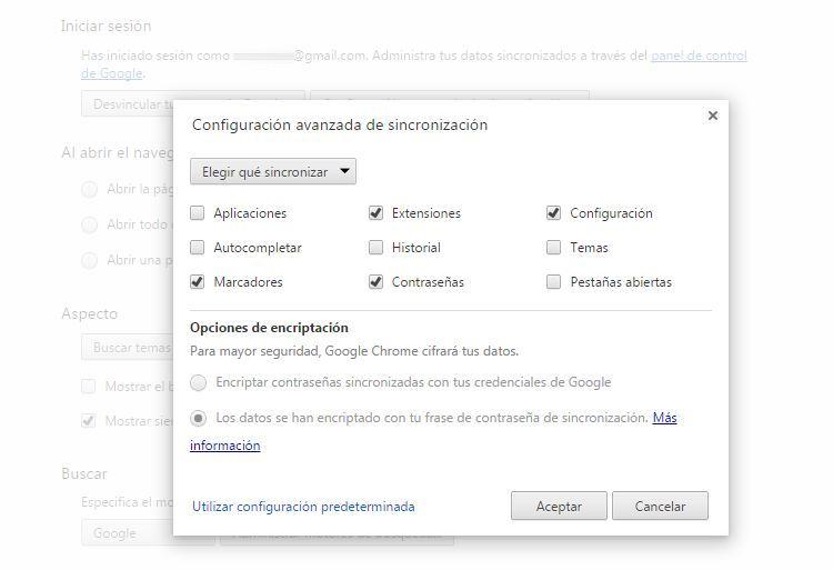 Img sincronizacion google chrome