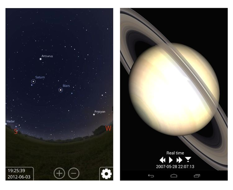 Img stellarium app astronomia