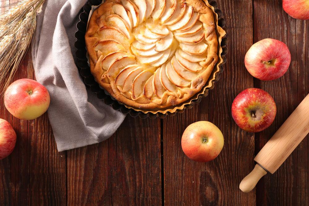 Img tarta de manzana casera hd
