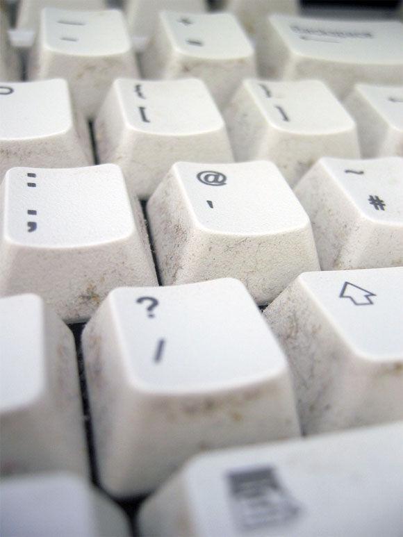 Img teclado sucio